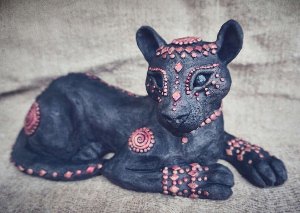 Ceramic Black Panther