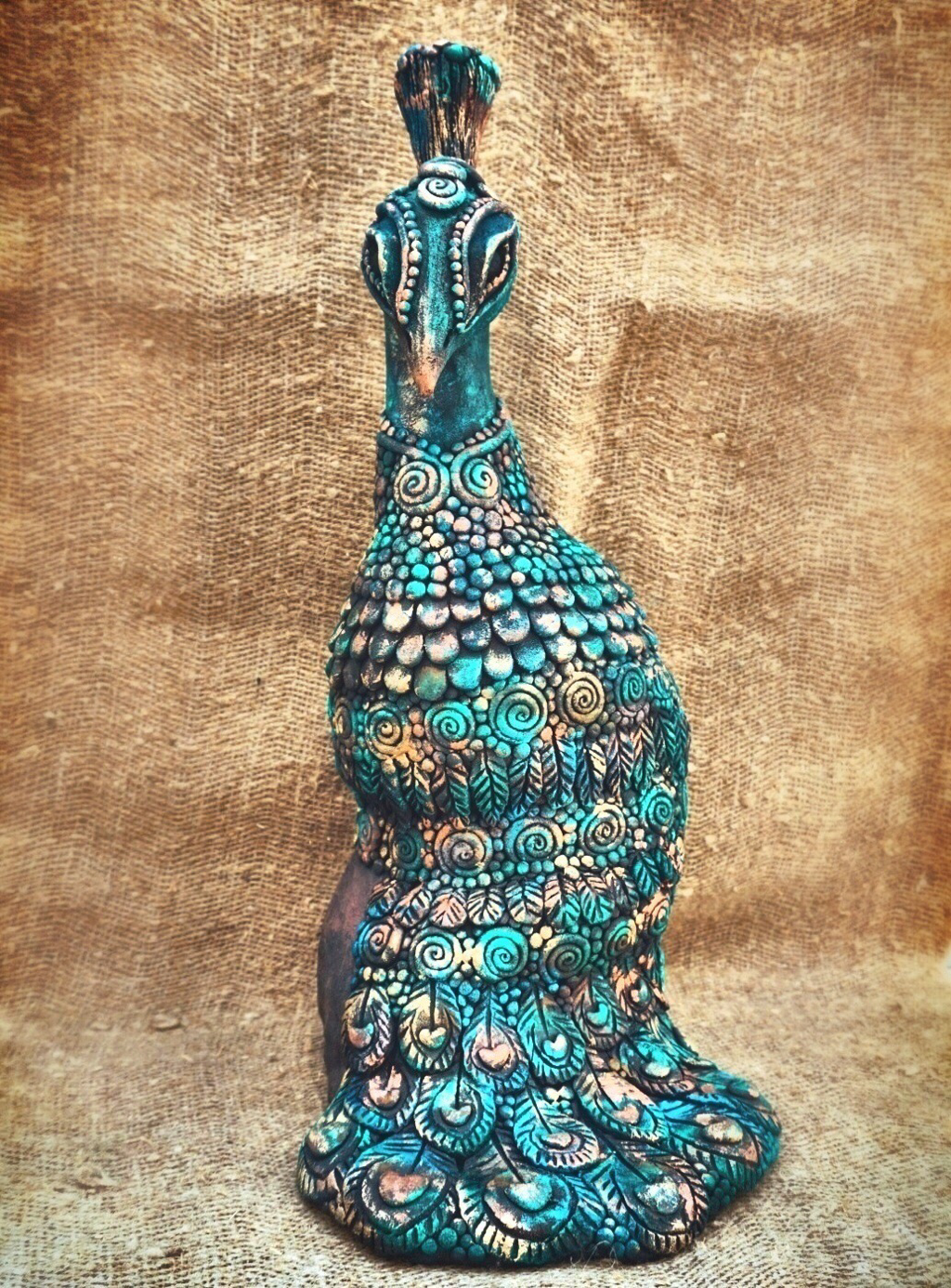 Peacock Sculpture